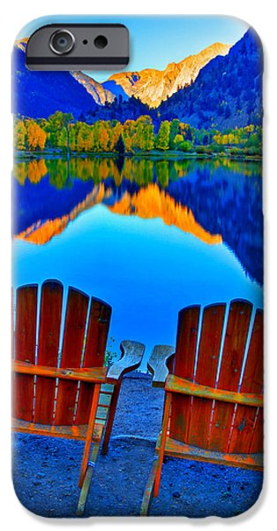 Two Chairs In Paradise IPhone Case by Scott Mahon