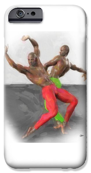 Two Classic Dancers IPhone Case by Quim Abella