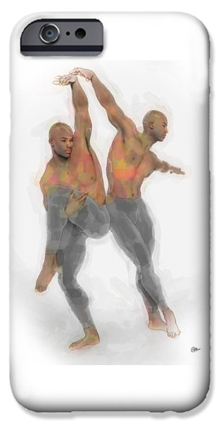 Two Dancers IPhone Case by Quim Abella