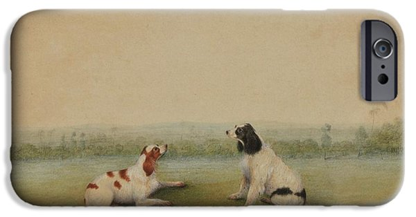 Two Dogs In A Landscape IPhone Case by Shaykh Muhammad