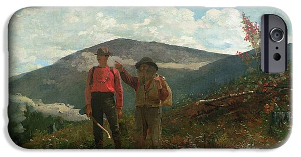 Two Guides IPhone Case by Winslow Homer