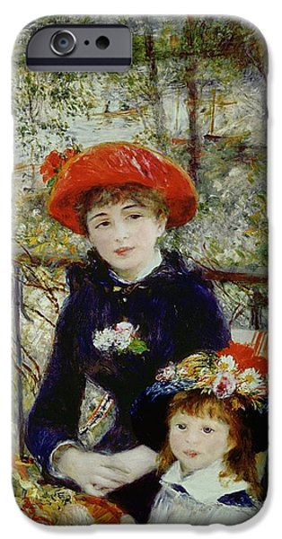 Two Sisters IPhone Case by Pierre Auguste Renoir