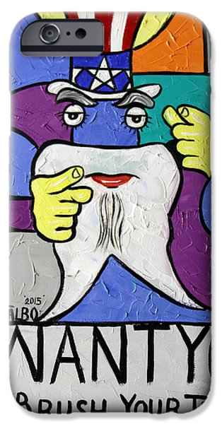 Uncle Sam Tooth IPhone Case by Anthony Falbo