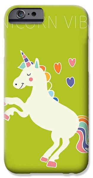 Unicorn Vibes IPhone 6s Case by Nicole Wilson