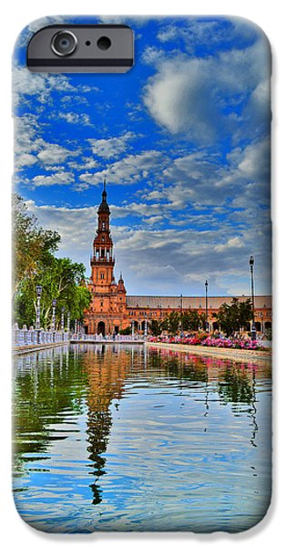 Urban Motifs. Seville. Spain Square.  IPhone Case by Andy Za