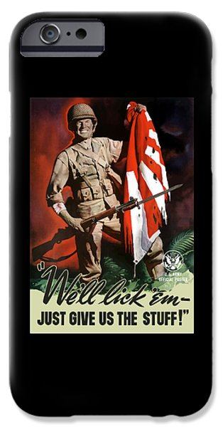 Us Army -- World War Two Propaganda IPhone Case by War Is Hell Store