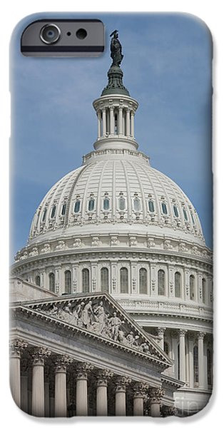 Us Capitol Building I IPhone Case by Clarence Holmes