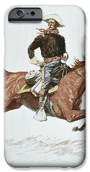 Us Cavalry Officer In Campaign Dress Of The 1870s IPhone Case by Frederic Remington