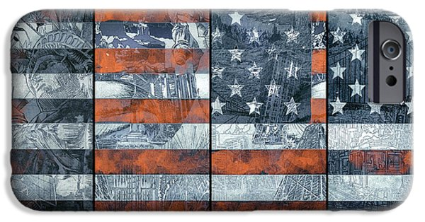 Usa Flag 12 IPhone Case by Bekim Art
