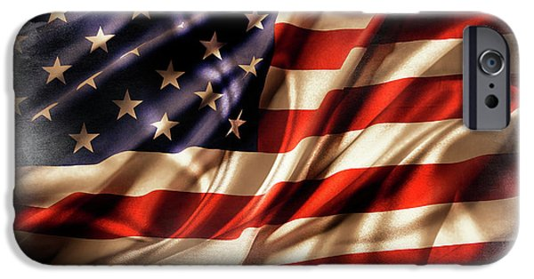 Usa Flag 7 IPhone Case by Les Cunliffe