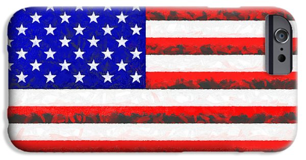 Usa Flag  - Free Colorful Style -  - Da IPhone Case by Leonardo Digenio