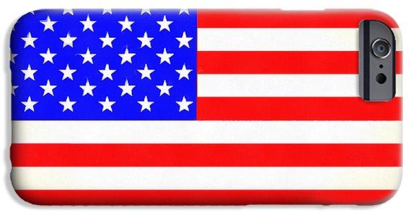 Usa Flag  - Vivid Free Style -  - Da IPhone Case by Leonardo Digenio
