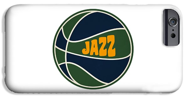 Utah Jazz Retro Shirt IPhone Case by Joe Hamilton