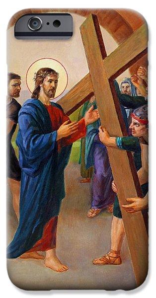 Via Dolorosa - Jesus Takes Up His Cross - 2 IPhone Case by Svitozar Nenyuk