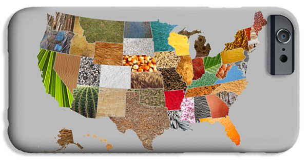 Vibrant Textures Of The United States IPhone Case by Design Turnpike