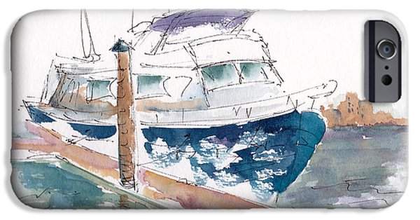Vic Harbor Boat IPhone Case by Pat Katz
