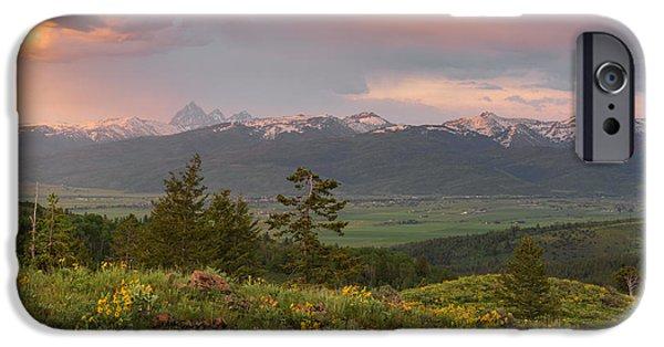 Victor Idaho Sunset IPhone Case by Leland D Howard