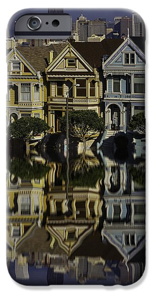 Victorian Row Reflection IPhone Case by Garry Gay