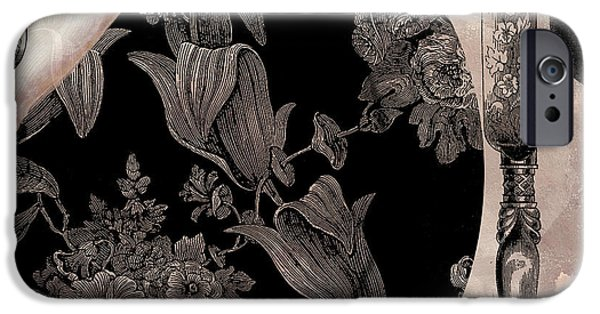 Victorian Table IPhone Case by Mindy Sommers