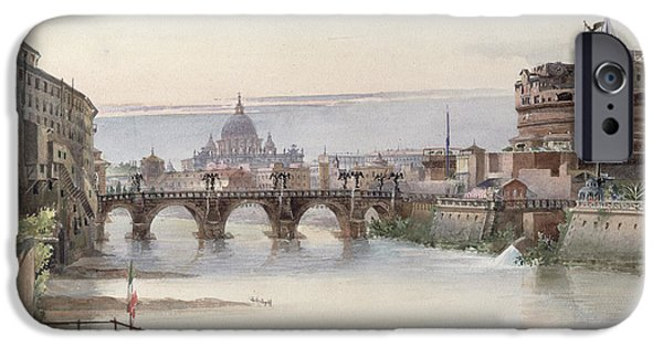 View Of Rome IPhone Case by I Martin
