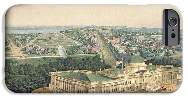 View Of Washington Dc IPhone Case by Edward Sachse