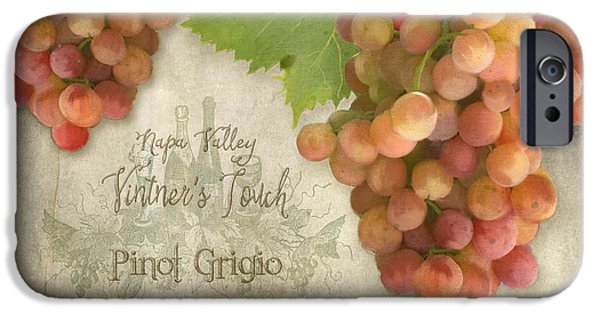 Vineyard - Napa Valley Vintner's Touch Pinot Grigio Grapes  IPhone Case by Audrey Jeanne Roberts