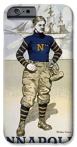 Vintage College Football Annapolis IPhone Case by Edward Fielding