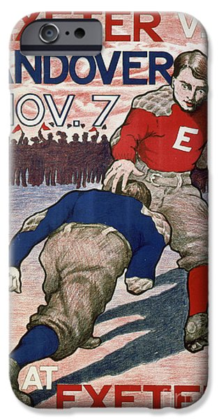 Vintage College Football Exeter Andover IPhone 6s Case by Edward Fielding