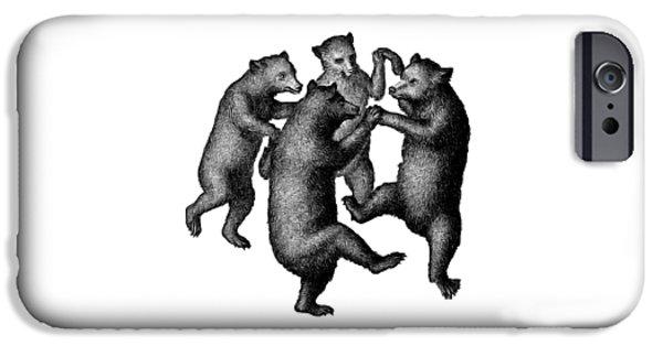 Vintage Dancing Bears IPhone 6s Case by Edward Fielding