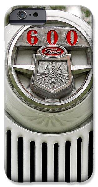 Vintage Ford 600 Nameplate Emblem IPhone Case by Edward Fielding