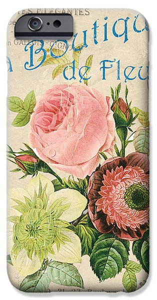 Vintage French Flower Shop 2 IPhone Case by Debbie DeWitt