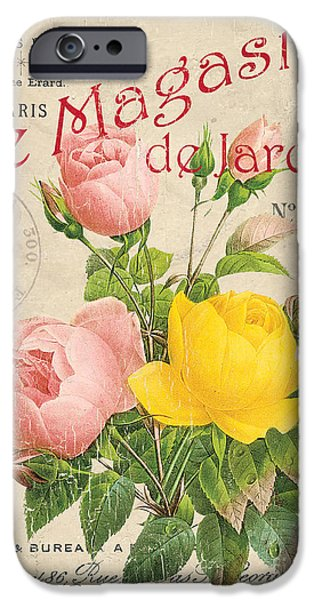 Vintage French Flower Shop 3 IPhone Case by Debbie DeWitt