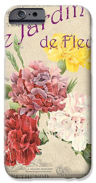 Vintage French Flower Shop 4 IPhone Case by Debbie DeWitt