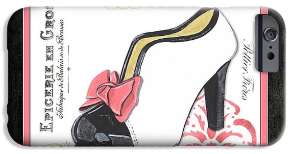 Vintage French Shoes 2 IPhone Case by Debbie DeWitt