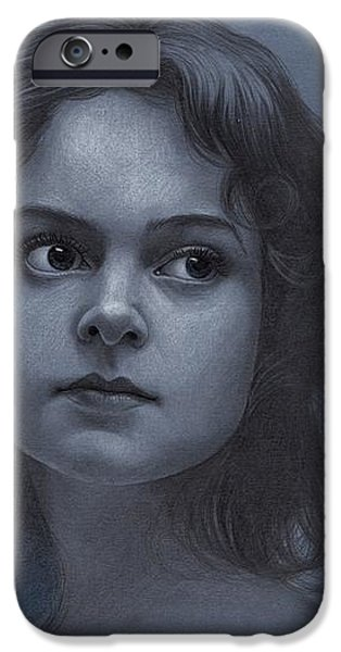 Vintage Girl - Pencil Drawing IPhone Case by Thubakabra