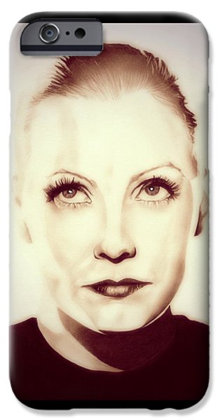 Vintage Greta Garbo IPhone Case by Fred Larucci