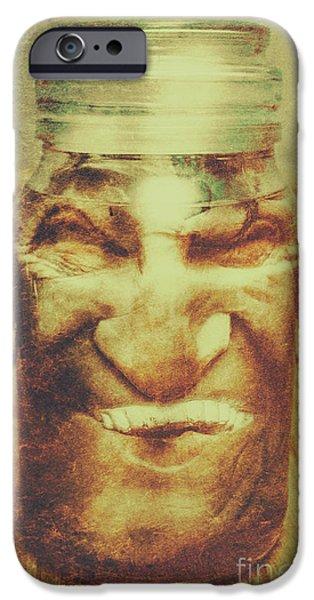 Vintage Halloween Horror Jar IPhone Case by Jorgo Photography - Wall Art Gallery