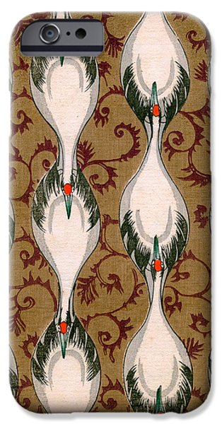 Vintage Japanese Illustration Of Cranes Flying IPhone 6s Case by Japanese School