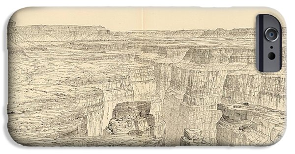 Vintage Pictorial Map Of The Grand Canyon - 1895 IPhone Case by CartographyAssociates