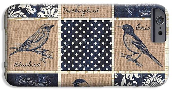 Vintage Songbird Patch 2 IPhone Case by Debbie DeWitt
