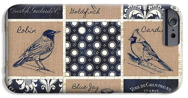 Vintage Songbirds Patch IPhone Case by Debbie DeWitt