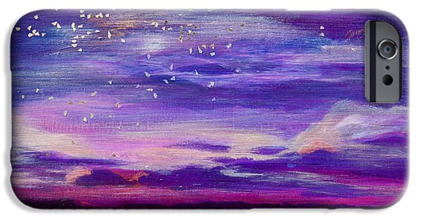 Violet Evening IPhone Case by Debi Starr
