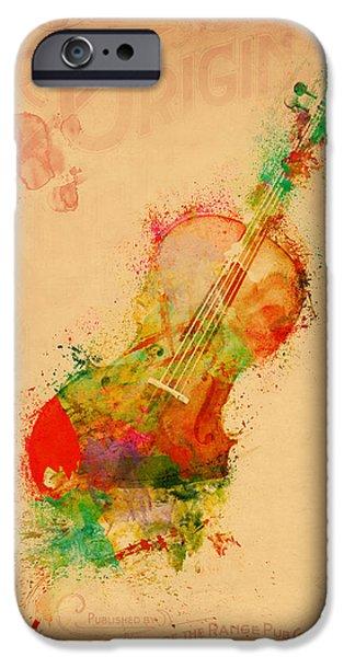 Violin Dreams IPhone Case by Nikki Marie Smith