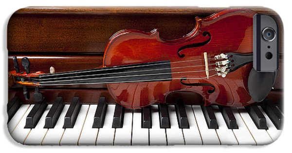 Violin On Piano IPhone 6s Case by Garry Gay
