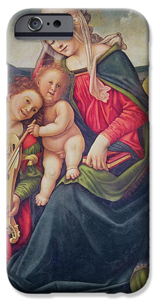 Virgin And Child And Angel Musicians  IPhone Case by Piero di Cosimo