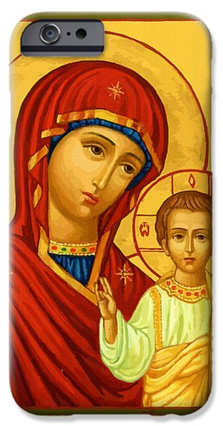 Virgin And Child IPhone Case by Christian Art