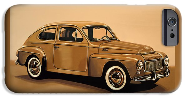 Volvo Pv 544 1958 Painting IPhone Case by Paul Meijering