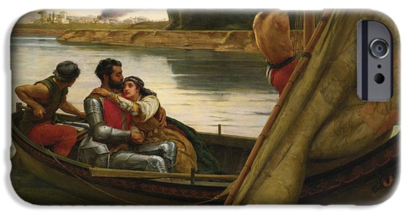 Voyage Of King Arthur And Morgan Le Fay To The Isle Of Avalon IPhone Case by Frank William Warwick Topham