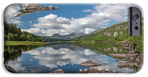 Vulcan Over Lake IPhone Case by Adrian Evans