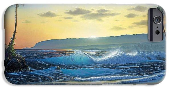 Waialua Daybreak IPhone Case by Al Hogue